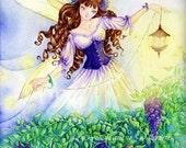 "Fairy Art Print, Fantasy Print ""All I Give"", Faerie Illustration"
