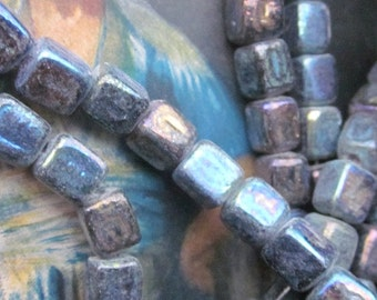 "Dark Blue ""Ali Baba"" Aurora Borealis Glass  Beads"