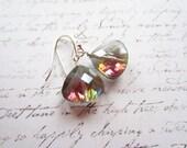 Rainbow Drop Earrings, Multicolor Earrings, Swedish Jewelry Design, Made in Sweden,