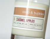 No. 150: CARAMEL APPLES // Natural Soy Candle // 13 oz // Highly Scented
