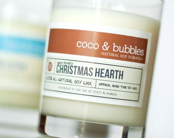 No. 153: CHRISTMAS HEARTH // Natural Soy Candle // 13 oz // Highly Scented