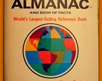 Vintage 1970 World Almanac and Book of Facts, Historic Reference Book, Moon Landing, Gift For Him, Gift For Her, Christmas