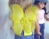 """Airbrushed Fairy Wings for American Girl 18"""" Dolls and Bitty Baby"""