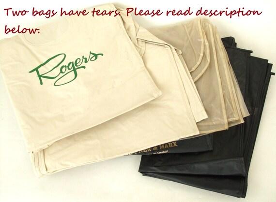 Vintage Vinyl Garment Bags w/ Zipper - Department Store