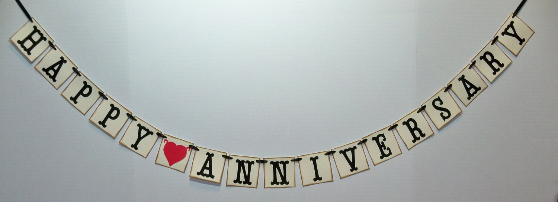 Anniversary Banner Printable Mini Happy Anniversary Banner/