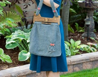 Knitting Pattern for Owl Tote Bag / Purse