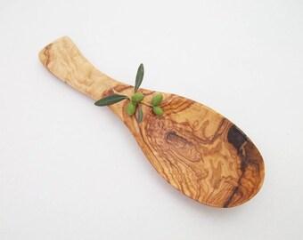 "Olive Wood salad spoon / Olive Wood serving spoon  9"""