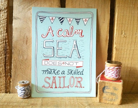 Skilled Sailor- 5x7 Nautical Art Print