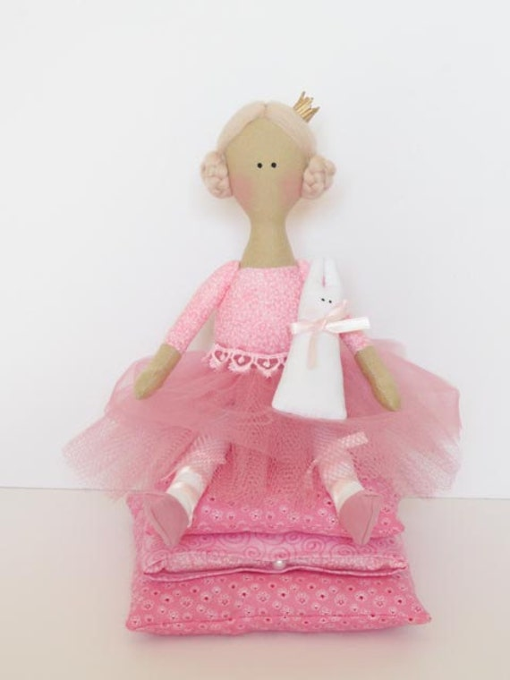 Custom order for Claire - ballerina doll- Princess and the Pea doll
