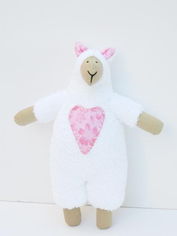 Reserved for Joan- White sheep softie toy lamb handmade stuffed animal- child friendly plushie toy- gift for children,baby shower gift idea