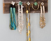 Barn Wood - Necklace Hanger - Jewelry - Organize - Knobs - Rustic
