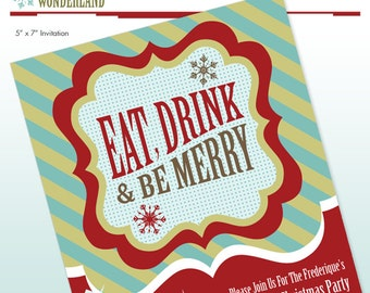 Christmas Holiday Party Invitation - DIY Printable - Print it Yourself