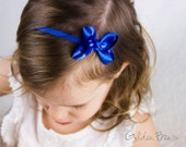 Royal Blue Baby girl Bows - Flower Girl Headband - Royal Blue Boutique Bow Handmade Headband - Baby to Adult Headband - Cobalt Blue