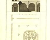 1760 Palladio Antique Architectural Print, Italian Architecture Reinnasance