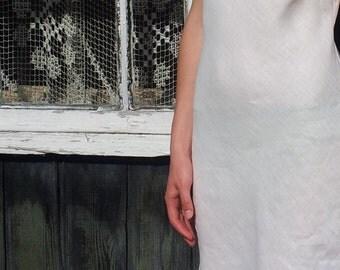 Linen White Slip Laced/Linen Underwear/Linen Nightgown For Woman/ Flax Gown/ Linen Lingerie