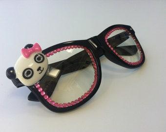 Rave light show glasses- panda