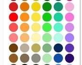Plain Colors Bottlecap Images / Colorful Backgrounds / 19 Printable Collage Sheets / 1-Inch Circles for Bottle Caps / Instant Download