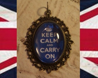 Keep Calm and Carry On Pendant