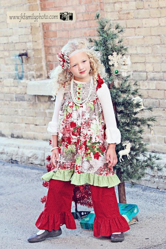 Believe Dress - Girls Flutter Sleeve Dress Holiday Snowflake