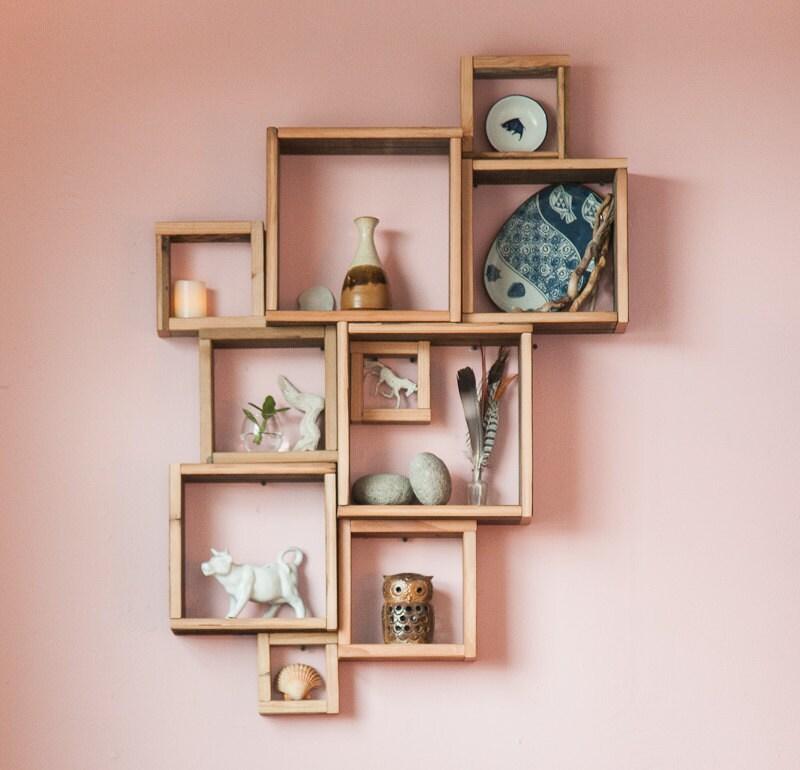 barn wood shadow boxes modular square shelves. Black Bedroom Furniture Sets. Home Design Ideas