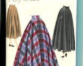 Vogue 6231 1940s Wide Waistband Circle Skirt Sewing Pattern 3 Lengths Size 28 Waist