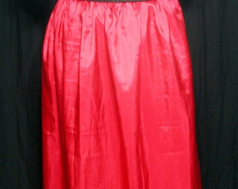 Full Length Steampunk Skirt - Red with drawstring waist