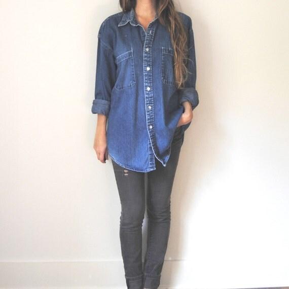 items similar to denim button up shirt womens button up