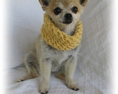 Winter Soft Collar - Pet Neck warmer in Yellow