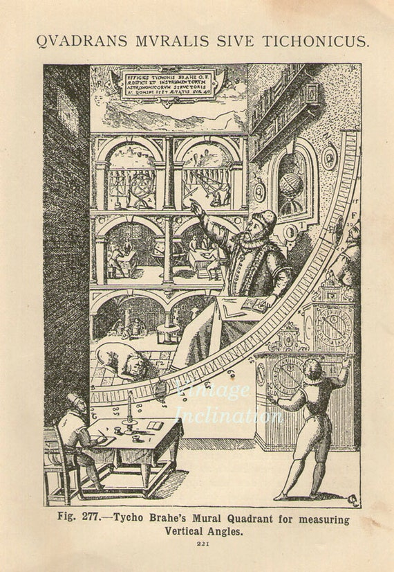 Astronomy print 100 years old tycho brahe mural quadrant for Tycho brahe mural quadrant