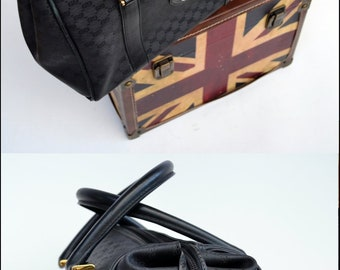 Authentic All Black Vintage Gucci Doctor Bag Beautiful Piece