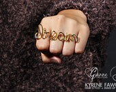 Custom 2 or 3-Finger Name Ring (Petite Collection - Thin Wire)