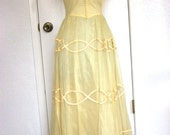 Vintage 1940s Yellow Formal Gown