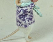 RESERVED FOR SORROWLittle Winter Mouse -  needle felted ornament animal, felting dreams