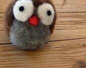 Woodland creatures: Needle felted little Owl. Custom order