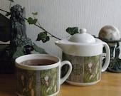 Café Style Porcelain Tea for One Set, Ivy Card Art