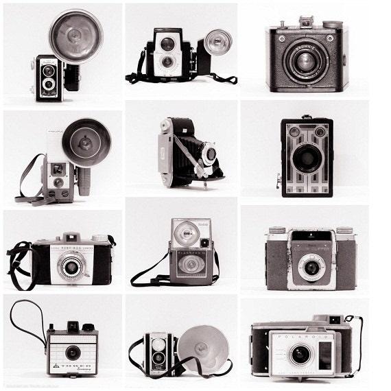 Vintage Camera Collection Retro Photo Set Modern Decor