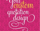 Custom Quote on Damask Pattern / 8 x 10 print