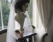 Vintage style veil -  couture bridal cap veil -1920s wedding  veil - Lady Constance