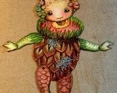 Jointed Woodland Root Babies Paper Dolls Kit