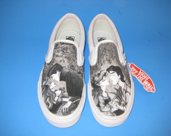 Disney Sleeping Beauty and Little Mermaid Custom Made Shoes WRAPAROUND ARTWORK shoes INCLUDED