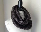Infinity Scarf Chocolate Brown Sweater Knit