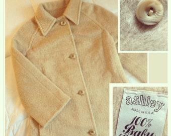 Vintage 1970s Baby Llama Coat Size Medium
