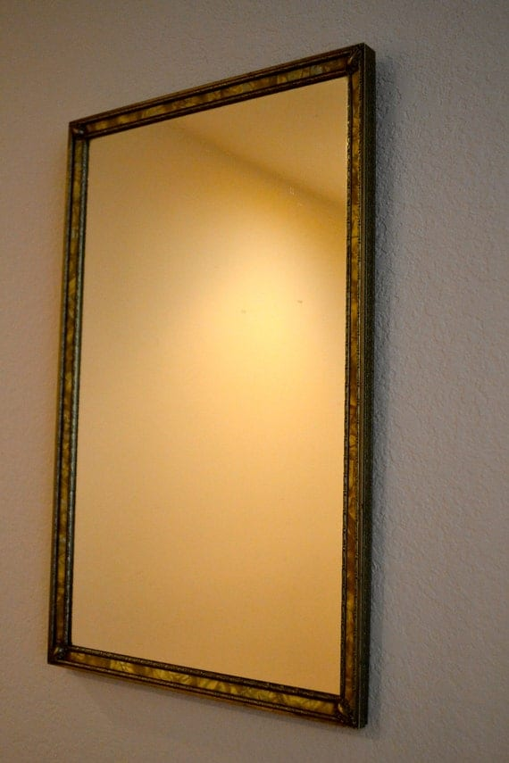 Art Deco Vintage Picture Frame Wall Mirror By