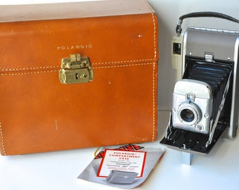 Vintage Polaroid Land Camera, Case and Accessories