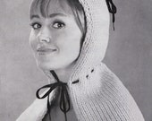 Little Knit Riding Hood 1960's Vintage Knitting PDF PATTERN