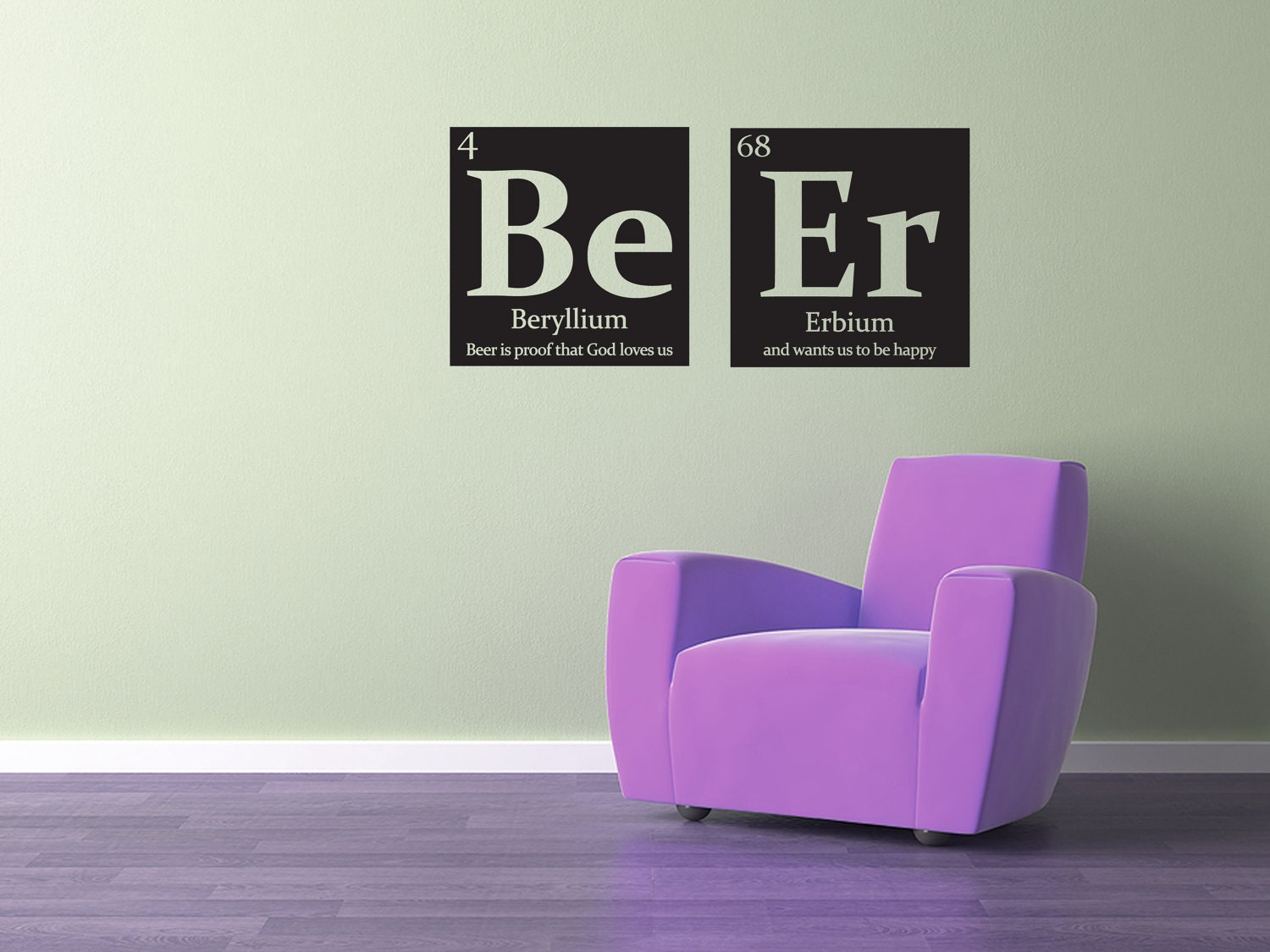 Mancave periodic table wall decal be er beer with funny zoom gamestrikefo Choice Image