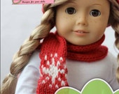 Holiday Accessories PDF knitting pattern for 18 inch dolls like American Girl - INSTANT DOWNLOAD