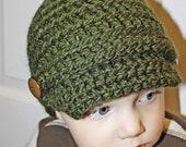 Baby Boy Toddler Boy Crochet Newsboy Hat Crochet Beanie Crochet Hat Boys Crochet Hat