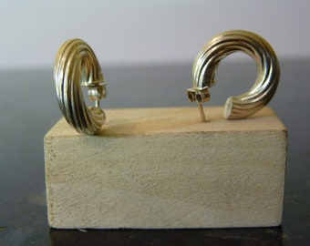 SALE Vintage Silver Hoop Earrings