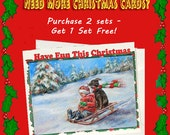 Funny Christmas Card, Fun 18 cards, Personalized, Photo, Sentiment, Names frameable, 3 sets